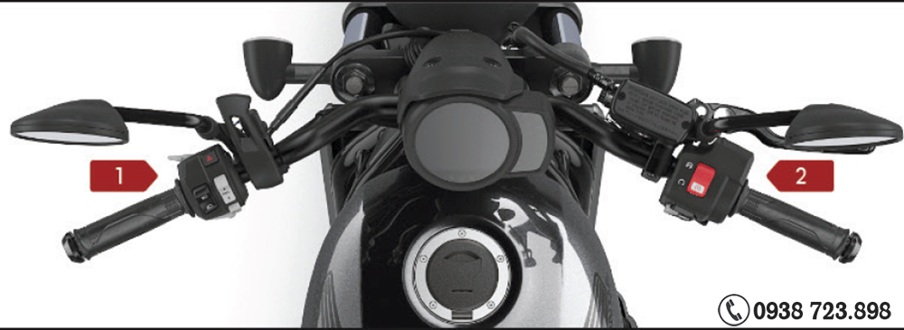 Tay láy Honda Rebel 1100 2022