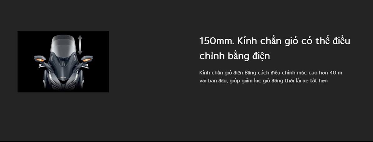 kính chắn gió forza 350 2021